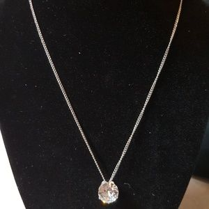 Silver Necklace With Solitaire